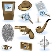 Private detective collection — Stock Vector