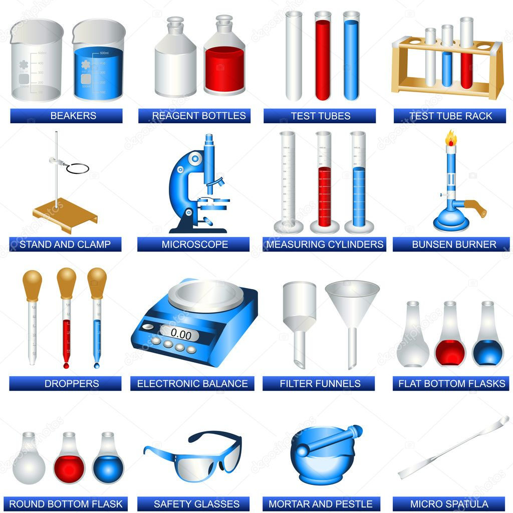 A collection of laboratory tools - vector illustration. — Stock Vector #4700136