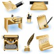Writing icons 2 - Stock Vector