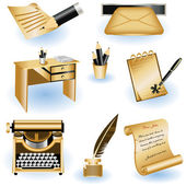 Writing icons 2 — Stock Vector
