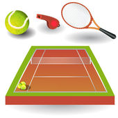Tennis icons 1 — Stock Vector