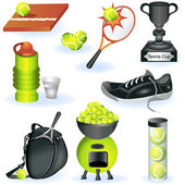 Tennis icons 2 — Stock Vector