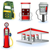 Fuel station images — Stock Vector