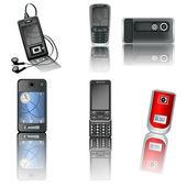 Cellphones — Stock Vector