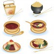 Chinese food collection — Vector de stock