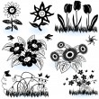 Royalty-Free Stock Vector Image: Collection of flowers 1