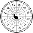 Horoscope wheel chart - Grafika wektorowa