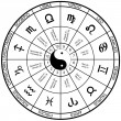 Royalty-Free Stock Imagen vectorial: Horoscope wheel chart