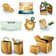 Shopping icons 1 — Stock Vector
