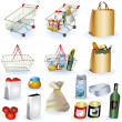 Supermarket icons 1 - Stock Vector