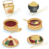 Chinese food collection — Stockvector