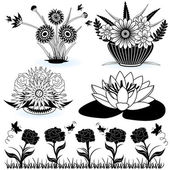 Collection of flowers 3 — Stock Vector