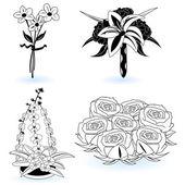 çiçek 4 topluluğu — Stok Vektör