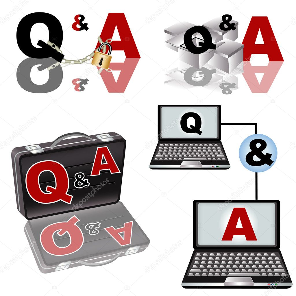 A collection of Q & A - Questions and Answers - illustrations. — Stock Vector #5210147