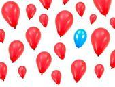 Kırmızı balon — Stok fotoğraf