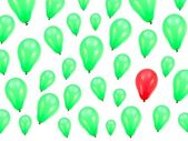 Green Balloons — Stock Photo