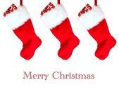 Чулок для рождественских подарков — Стоковое фото