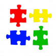 Jigsaw Pieces - Stock Photo