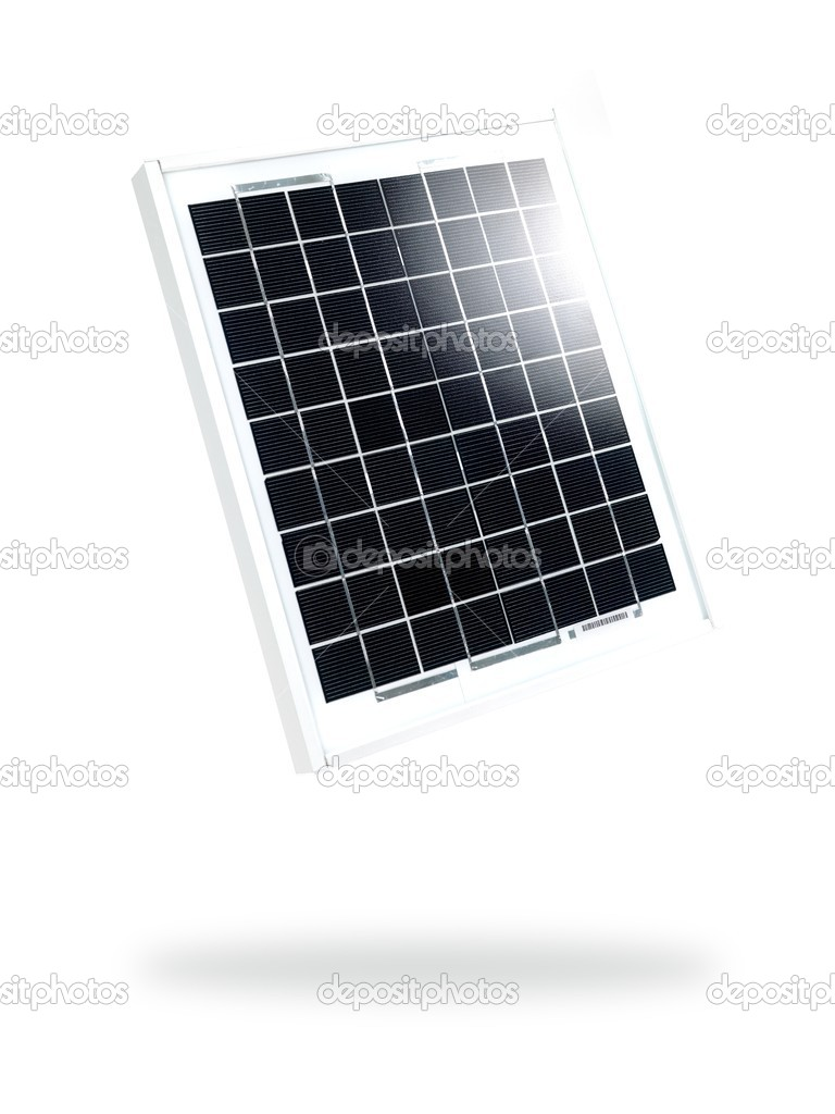 A solar panel isolated against a white background  Stock Photo #5196290