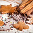 Traditional home baked ginger cookies — Stock Photo