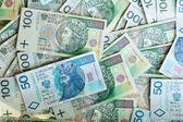 Polish zloty paper money — Stock Photo