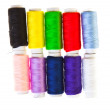 Colorful sewing threads — Stock Photo