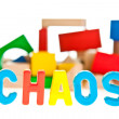 Stock Photo: Chaos concept on white isolated background
