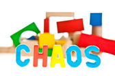 Chaos concept on white isolated background — Stock Photo
