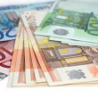 Stock Photo: Money euro background