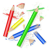 Colors pencils — Stock Vector