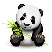 Little panda — Stock Vector