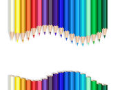 Color pencils wave — Vector de stock