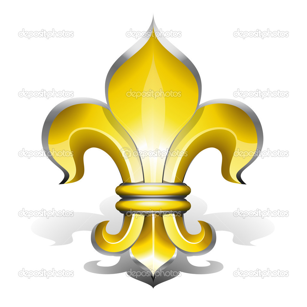 Fleur de Lys, antique symbol of french royalty — Stock Vector #4387942