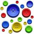 Royalty-Free Stock Vector Image: Sewing color buttons