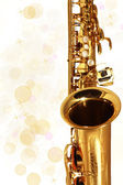 Golden Sax. Music. Holiday — Stock Photo