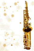 Winter Holiday Sax — Stock Photo