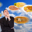 Stock Photo: Man and food