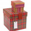 Gift boxes with blank tag — Stock Photo #5002606