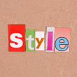 Style various letter — Stock Photo