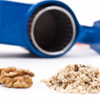 Hand grinder for nuts — Stock Photo