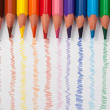Triangular color pencils — 图库照片
