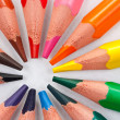 Triangular color pencils circle — Stock Photo