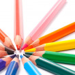 Triangular color pencils circle — Stock Photo #5003052