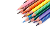 Triangular color pencils — Stockfoto
