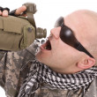 Military drinking — Stock Photo #5126962