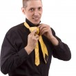 Man makink a tie — Stock Photo #5127009