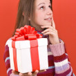 Stock Photo: Girl holding gift