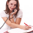 Business woman in office — Stock Photo #5127199