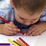 Boy Drawing — Stock Photo #5127219