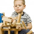 Stock Photo: Boy playing with blocks